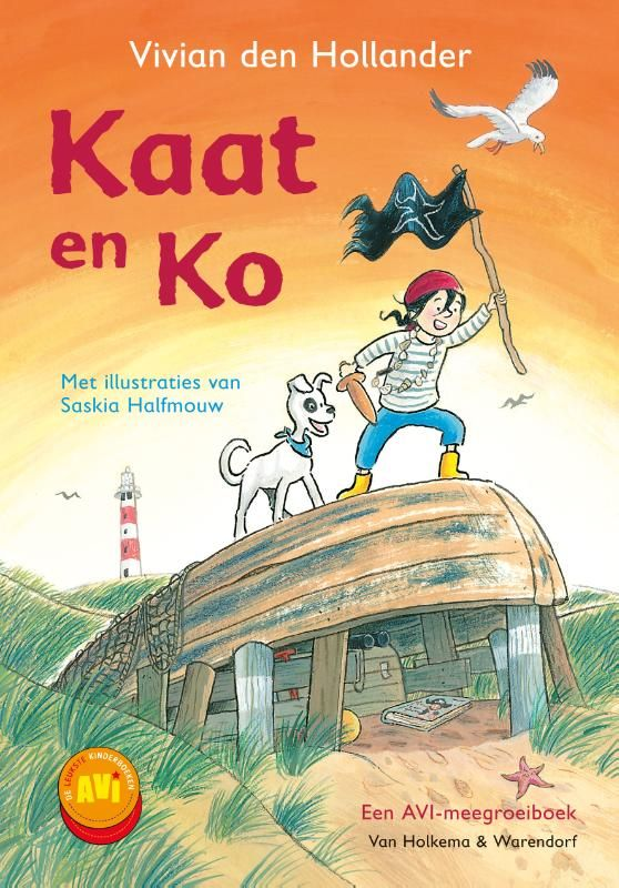 Superspannende, nieuwe AVI-serie van Vivian den Hollander!   Kaat woont bij zee, met haar hond Ko en Gijs. Ze leest graag over piraten en wil later zelf ook piraat worden, al is ze niet zo heel dapper. Op een dag ziet Kaat een fles aanspoelen. Ze gaat erop af, want misschien zit er wel een schatkaart in. Maar een onbekende jongen kruist haar pad. Hij noemt zichzelf Bink en is net in de buurt komen wonen. Zijn vader zorgt voor het licht in de vuurtoren.