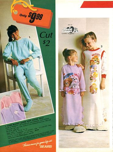 1985-Sears Christmas Catalog - Classic 80's night gowns