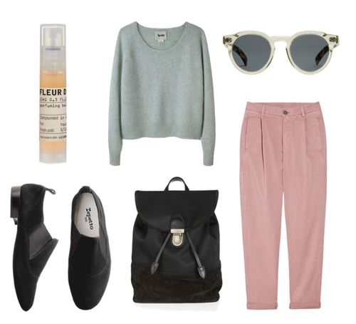 Sweaters, Backpacks, Casual Spring, Black Accessories, Sets 24, Pink Pants, Outfit, Polyvore, Style Sets