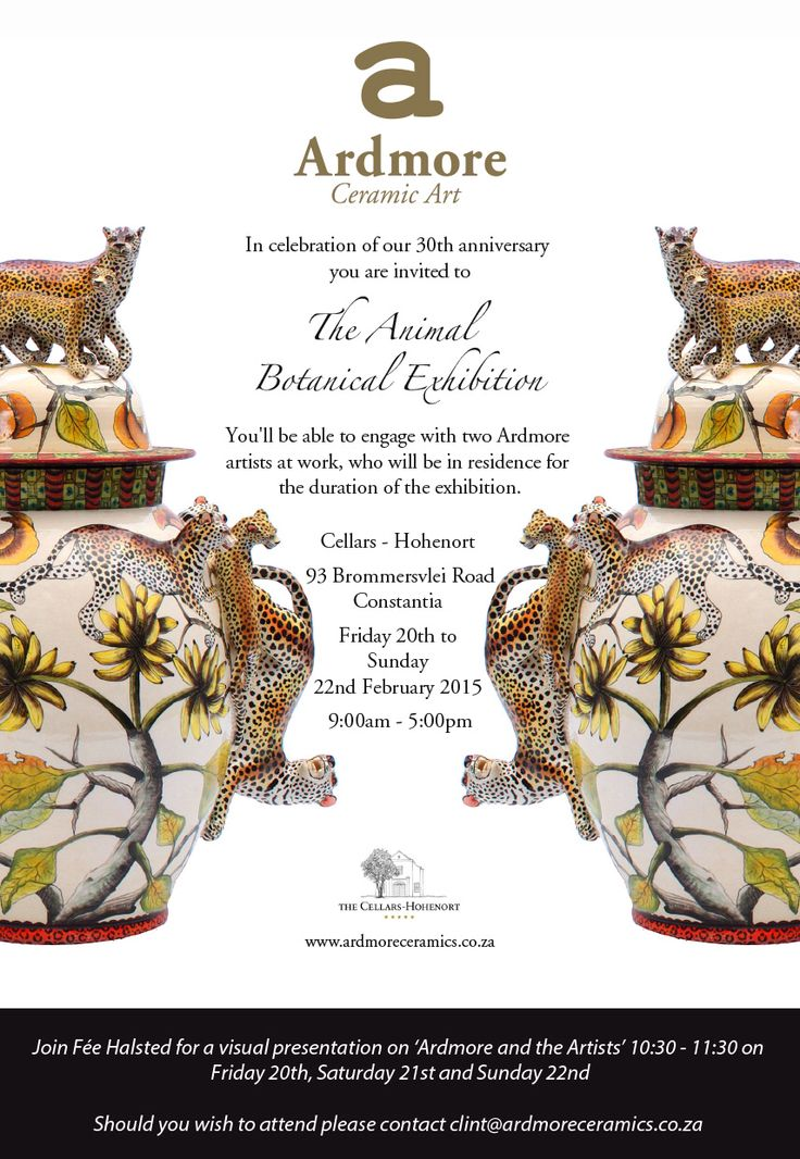 Please join us at the 'Animal and Botanical' exhibition CT 20th- 22nd February 2015.