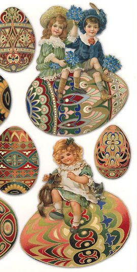 Fancy Easter stickers for craft projects, made in the USA