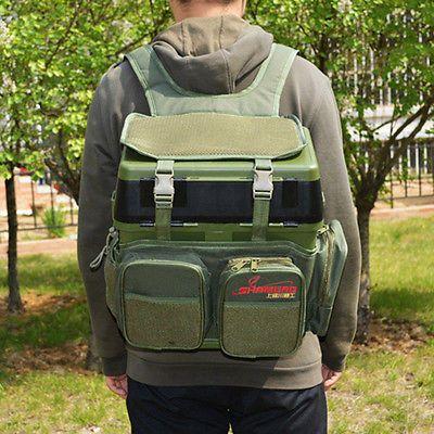Nylon Fishing Seat Box Backpack Camping Stool Seat Box Carrier Rucksack Bag