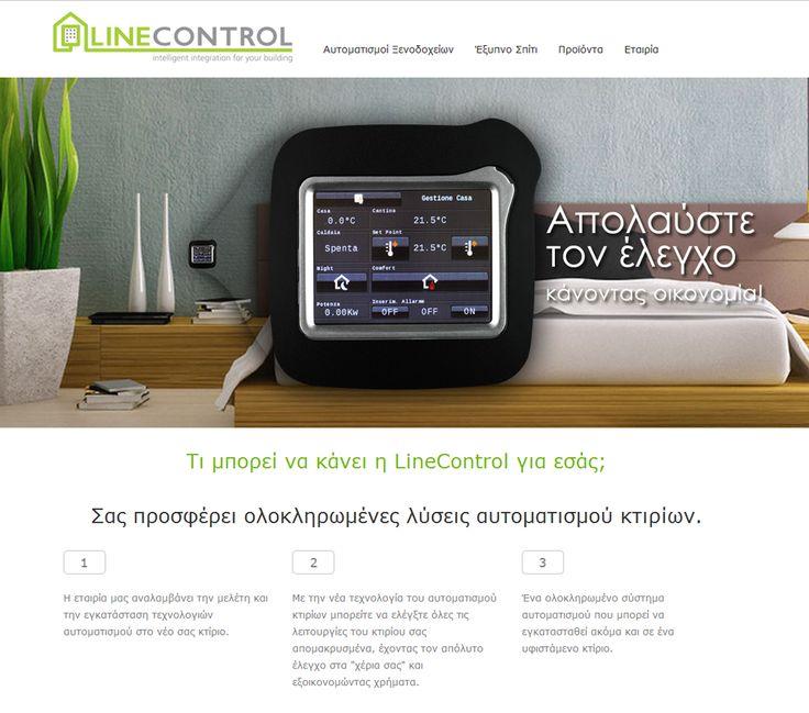 Η LineControl είναι μια βραβευμένη εταιρεία που προσφέρει ολοκληρωμένες λύσεις αυτοματισμού κτιρίων. Οι λειτουργίες που μπορείτε να ελέγξετε για λόγους εξοικονόμησης ενέργειας αφορούν τον φωτισμό, την σκίαση, τον κλιματισμό και τον αερισμό. Έτσι μπορείτε να μένετε σε ένα έξυπνο σπίτι δημιουργώντας τις ιδανικές συνθήκες διαβίωσης για εσας. Ο σχεδιασμός και η κατασκευή της ιστοσελίδας έγινε από την New Media Soft. www.linecontrol.gr