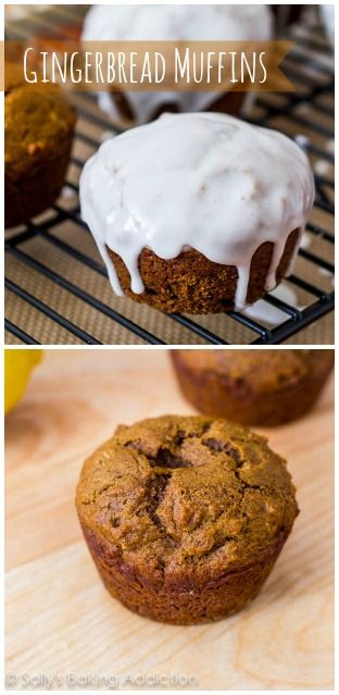 Glazed Gingerbread Muffins