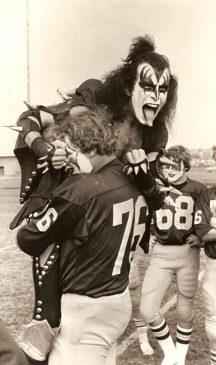 Gene Simmons and KISS visited Michigan's Cadillac High School in 1975 after hearing that the football team used the band's music as motivation.