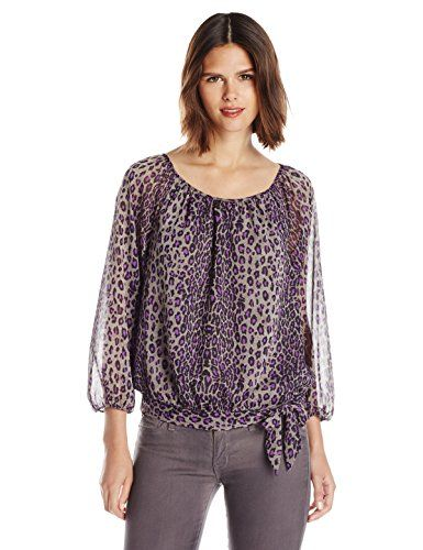 Wear To Work Womens Petite Animal Print Top  www.weartowork.us #weartowork #Blouse