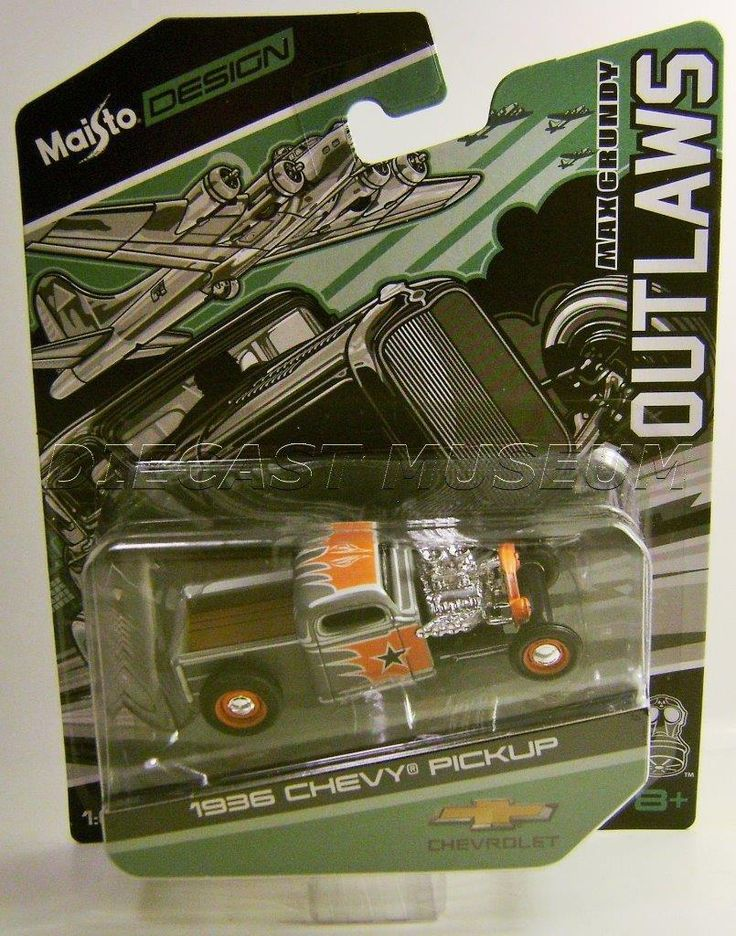 Maisto design Max... Now available on MAZDeal.com http://maz-deal.myshopify.com/products/maisto-design-max-crundy-outlaws-1936-chevy-pickup?utm_campaign=social_autopilot&utm_source=pin&utm_medium=pin