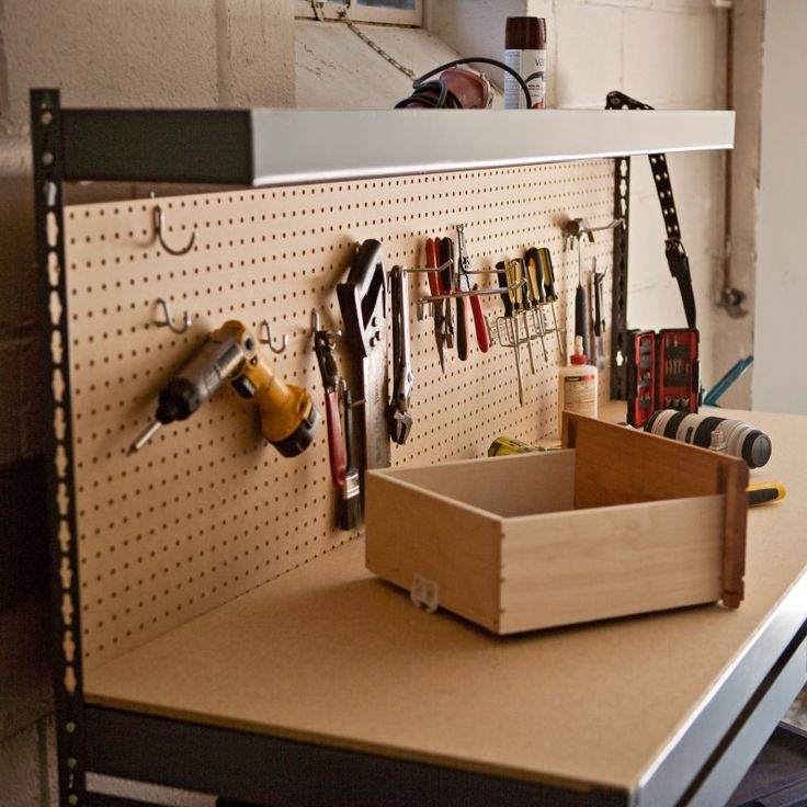 Edsal 6 ft. Steel Workbench with Pegboard - MRWB-6