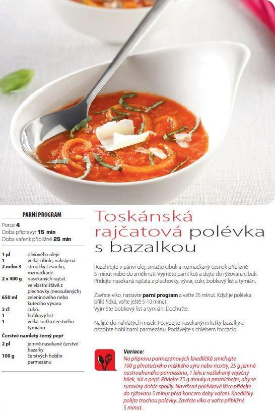 Toskánská rajčatová polévka s bazalkou recept, Multifunkční hrnec 8v1