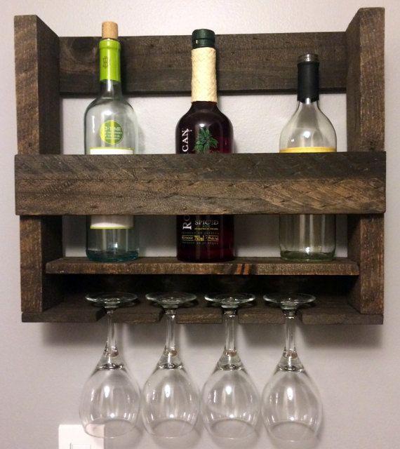 Botellero madera reciclada plataforma madera por UPNorthProducts