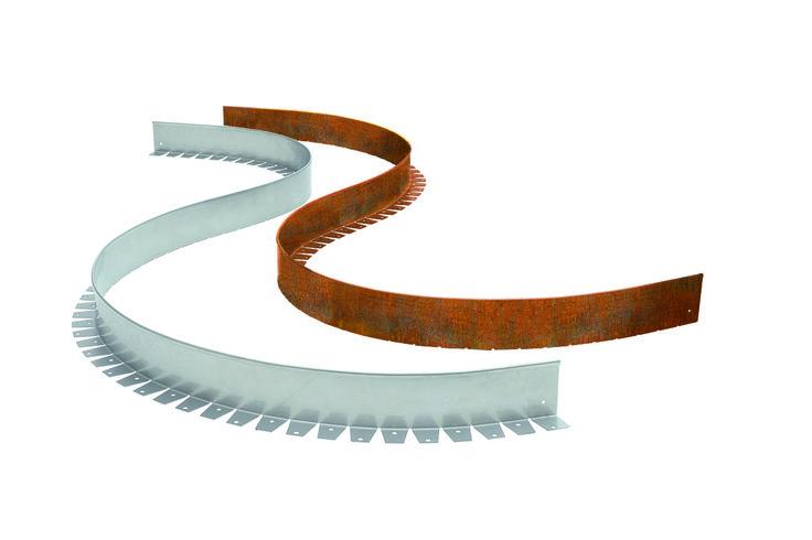 Unsere flexible Beeteinfassungen nehmen jede Form auf.