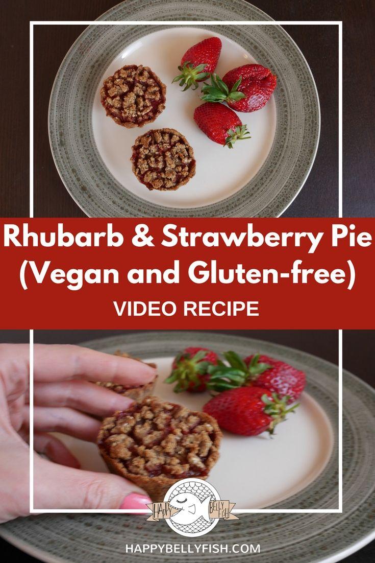 Rhubarb and Strawberry Pie Recipe (Vegan & Gluten-free)