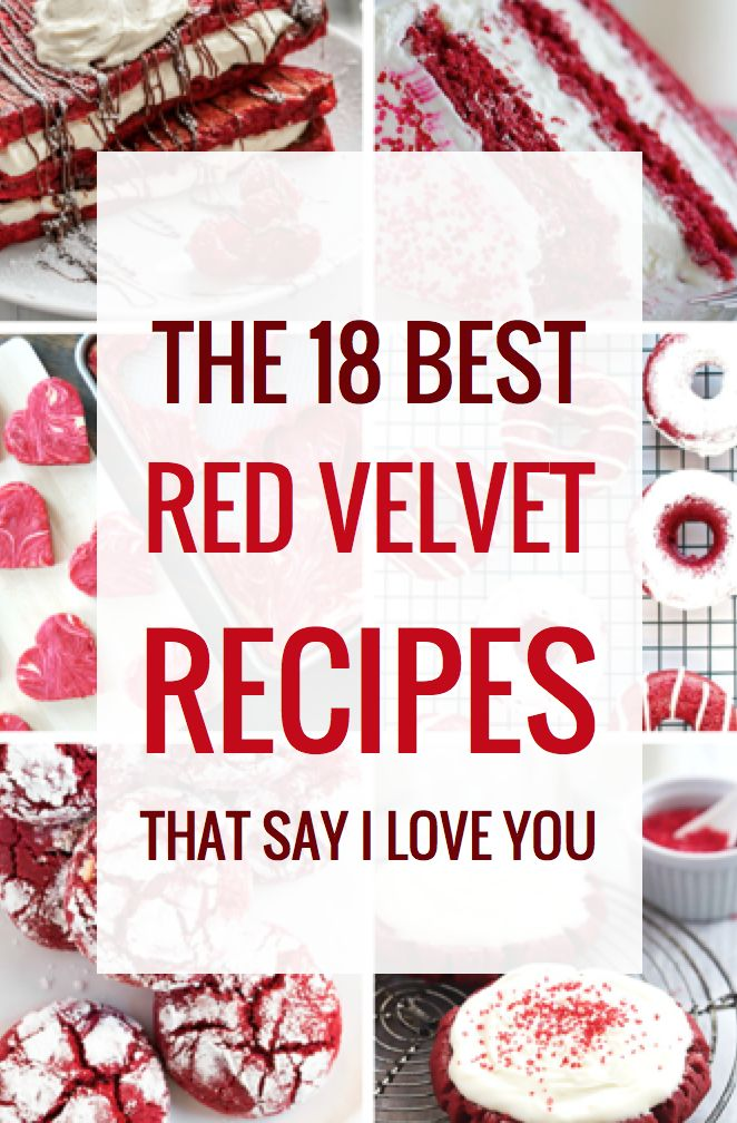 18 Red Velvet Recipes that Say I Love You