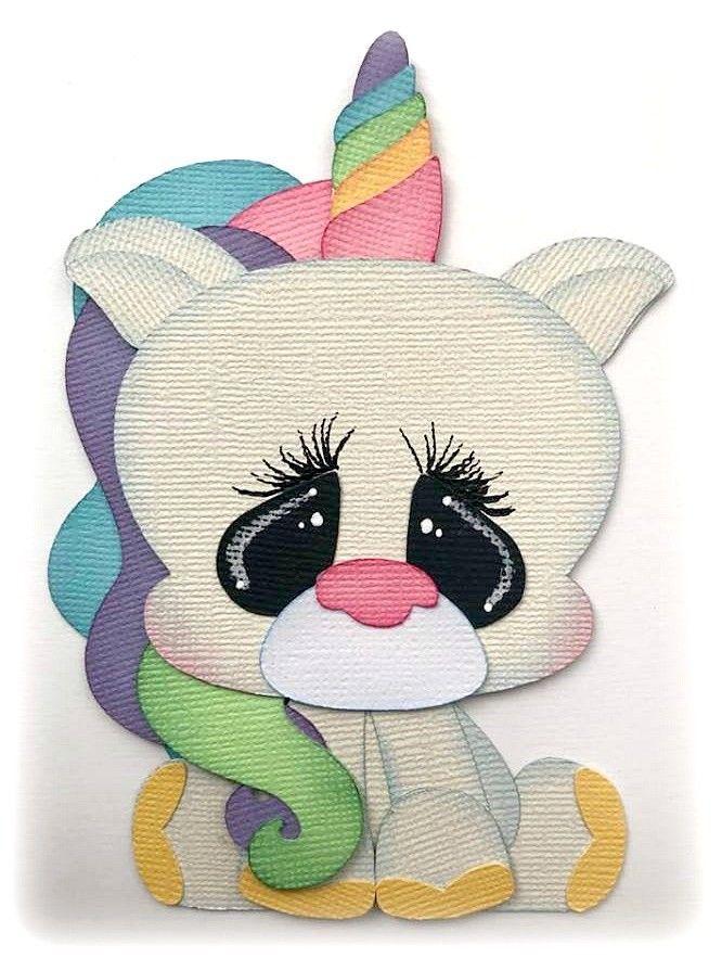 Pretty Unicorn Head Die Cuts Pastels pack of 6