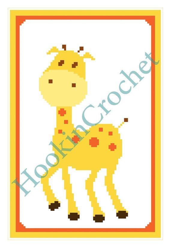 Baby Giraffe C2C Blanket Graph Pattern