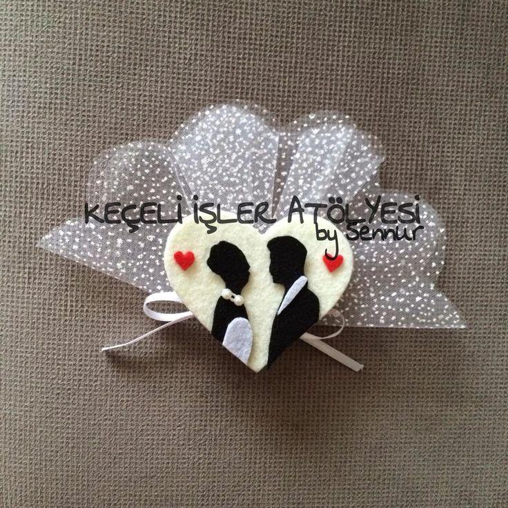 NİKAH-KİNA SEKERLERİ ~ Size ve sevdiklerinize özel tasarımlar... Felt wedding favor
