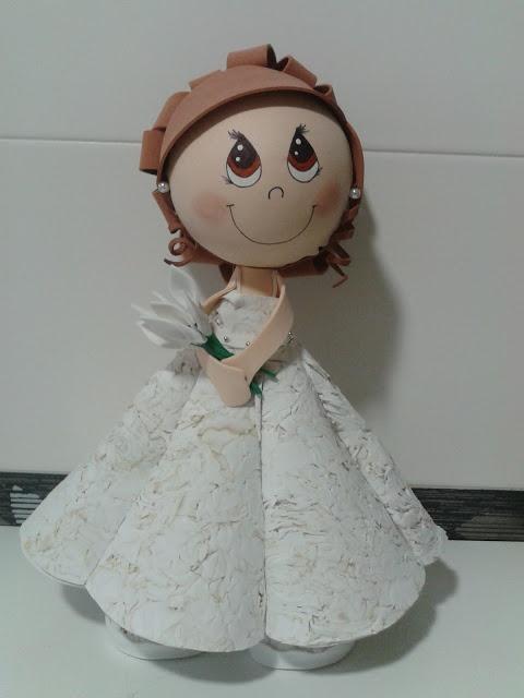 ALFILERES DE BODA MARTOS: fofucha novia
