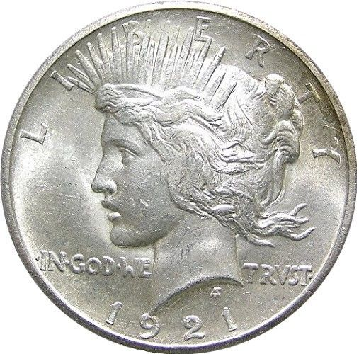 """Silver Dollars - the """"Peace Dollar"""" (1921–1935; 1964) was still seen in circulation during my childhood."""