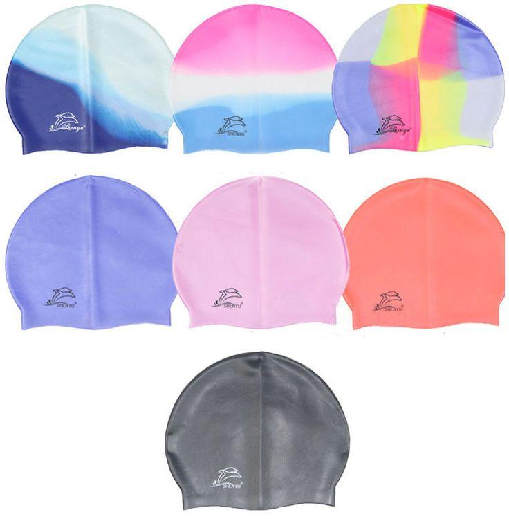 Качественная силиконовая резиновая шапочка для плавания для детей, взрослых мужчин и женщин, непромокаемая шапка для плавания,  бесплатная доставка в Россию и Бразилию
