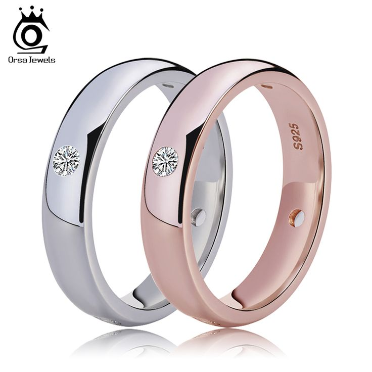 Rose Gold Women Wedding Bands with 4 Pieces Clear CZ Diamond Bezel Setting Top Quality Ring Wholesale OR61-in Rings from Jewelry on Aliexpress.com | Alibaba Group