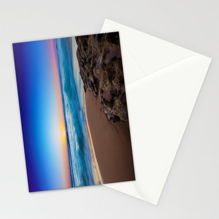 A Day At The Beach Stationery Cards by Mixed Imagery | Society6