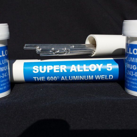 Super Alloy 5 Aluminum Alloy 5 aluminum welding rods. Melts at 600 degrees and fixes aluminum in thousands of applications   Cecilmuggy.com