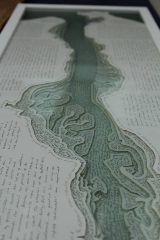 Book Art by David Howe exhibited at turn the page artists' book fair 2013, each layer you can see is made of glass!