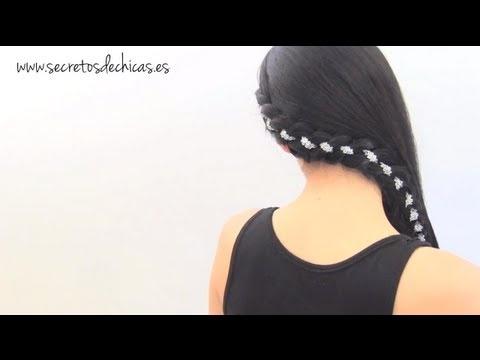 Peinado de lado: Trenza decorada  secretos de chicas