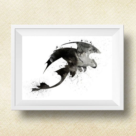 Dragon print Toothless Fury Print How to train by PrintsForKids