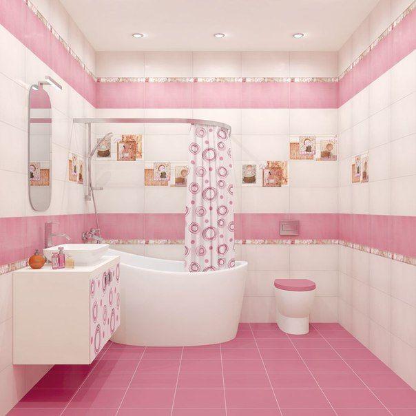 Ванные комнаты в розовых оттенках 💟💕💖  Розовая ванная комната, декорированная с помощью светло-нежных тонов, станет настоящим расслабляющим уголком в квартире обладателя. Розовая ванная комната воспринимается потрясающе за счет светлого, ненавязчивого подтона базового цвета. #плитка #сантехникатут #напольнаяплитка 📝 http://santehnika-tut.ru/