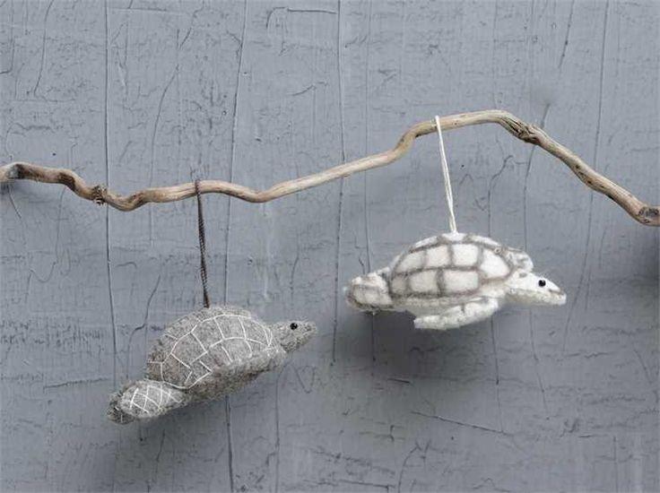 -wool-felt-hand-made-sea-turtle-ornament At Seasideinspired.com Beach Ocean Home Decor
