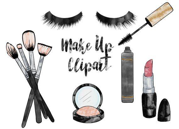 Makeup Clipart Watercolour Beauty Clipart Make Up Illustrations Digital Clipart Cosmetics Clipart Png Use Th Clip Art Makeup Clipart Makeup Illustration