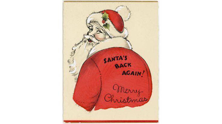 history of christmas1930s christmas card  hallmark