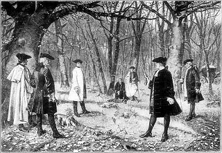 The Burr–Hamilton duel was a duel between two prominent American politicians, the former Secretary of the Treasury Alexander Hamilton and sitting Vice President Aaron Burr, on July 11, 1804.  Burr fatally wounded Hamilton; he was charged with murder but never tried, and he finished his term as vice-president.
