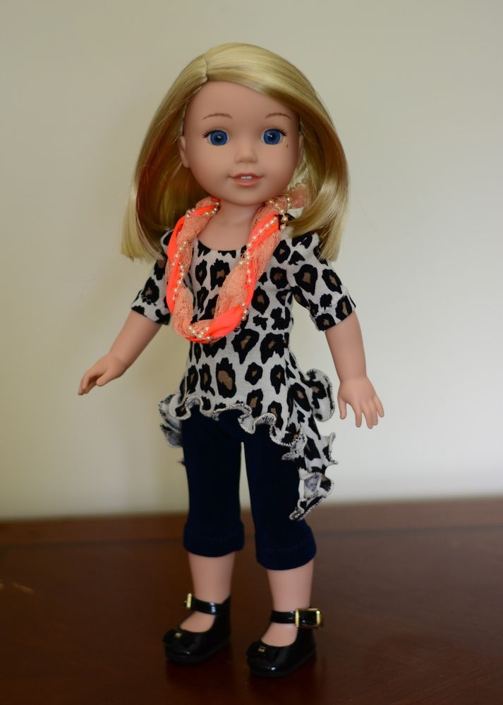 """""""Autumn Downtown"""" Outfit, Clothes, Dress for American Girl Wellie Wishers #LuminariaDesigns"""