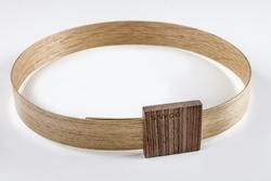 Hip Bälte, it is oak belt and walnut buckle