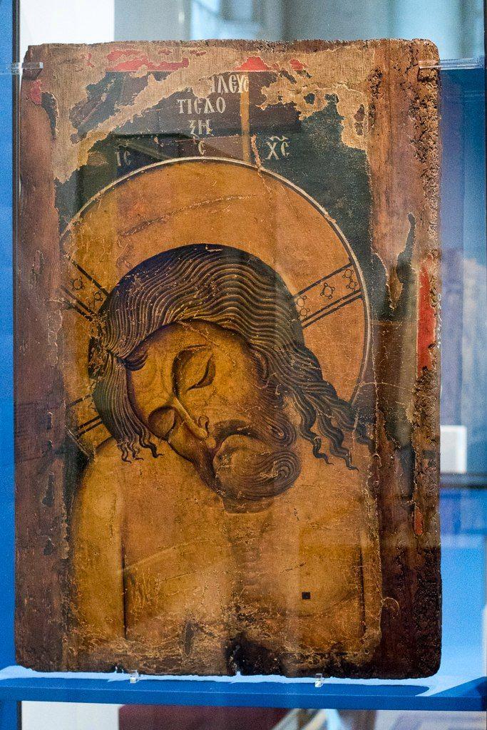 «Христос во гробе», греческая икона, 12 в