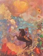 Muse on Pegasus  by Odilon Redon