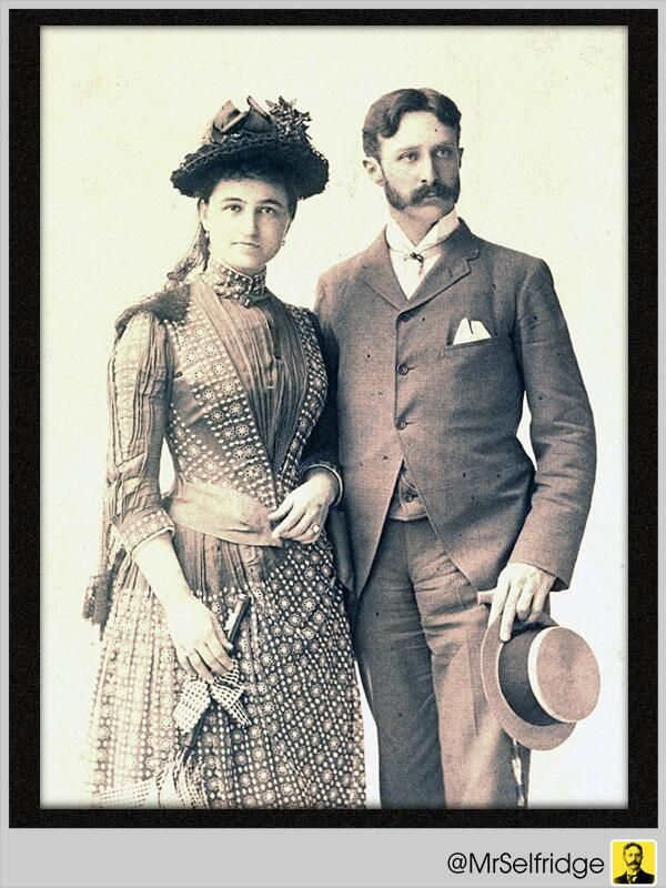 """@MrSelfridge: """"Be thankful for the time you enjoy with your beloved, my friends. Here I am with my dear Rose."""""""