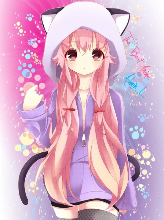 Anime girl in a cat jacket anime girls anime people - Anime kitty girl ...