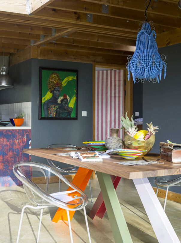 BIG table with coloured legs by Bonaldo