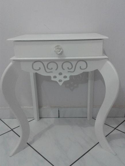 Criado Mudo Provençal 1 gaveta - Branco