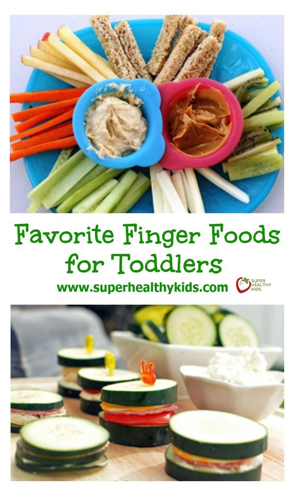 Favorite Finger Foods for Toddlers. If you have a toddler, you'll want this list of healthy finger food! www.superhealthykids.com/favorite-finger-foods-for-toddlers