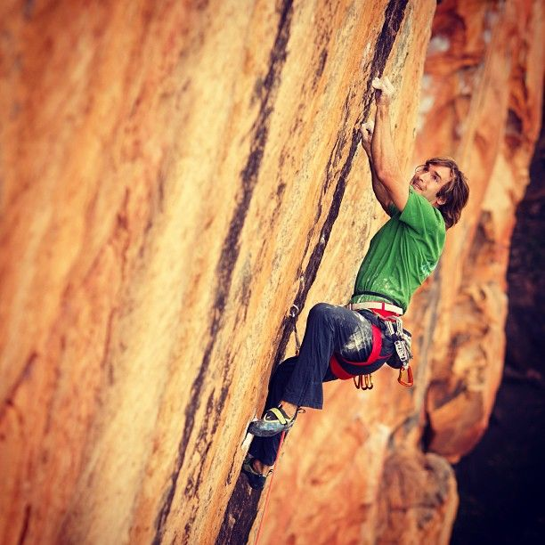 Chris Sharma (33) ticking the Groove Train on Taipan, excellent photo by Simon Carter.