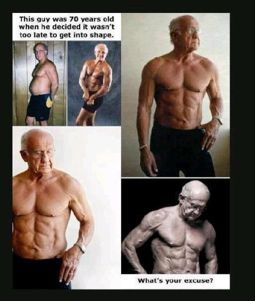 70 year old decides it's not too late to get in shape