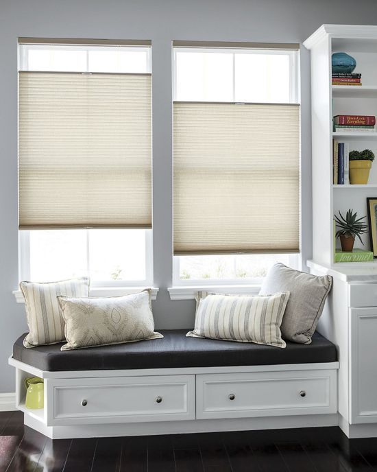 "Luxe Linen 1/2"" Semi-Sheer Honeycomb Shades - Cellular Window Shades, Blinds - Smith+Noble"