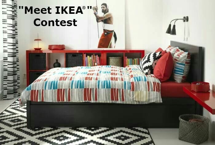 Boys room idea from IKEA  MALM black-brown bed with storage boxes and LAPPLJUNG RAND multicoloured quilt cover and pillowcases & 7 best ??????? ?????? ???????? ? ???????? ??????? SID images on ...