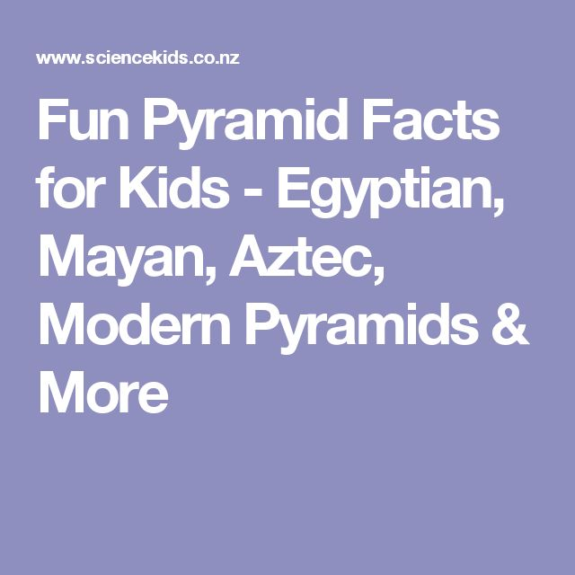 Fun Pyramid Facts for Kids - Egyptian, Mayan, Aztec, Modern Pyramids & More