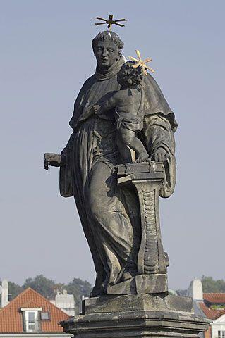 socha sv. Antonína Paduánského s Ježíškem - Královská cesta. Sochu vytvořil v roce 1707 z pískovce J. O. Mayer