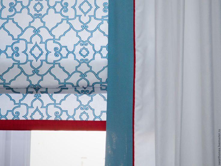 Купить Текстиль - кухня/гостиная - комбинированный, шторы на заказ, шторы для гостиной, римская штора, портьеры